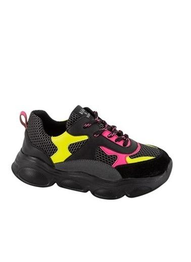 Kids A More Neo Bağcıklı Air File Detaylı Deri Kız Çocuk Sneaker  Siyah